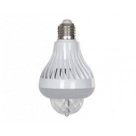 Efecto LED Bombilla E27 3x1W RGB + BLANCO