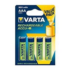 Bateria R03 AAA 800mAh 1,2V NiMh BL4 Varta 56813101404