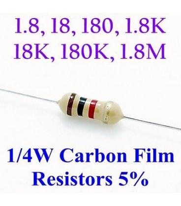Resistencia Oxido Metal 1K8 1/4W 5%