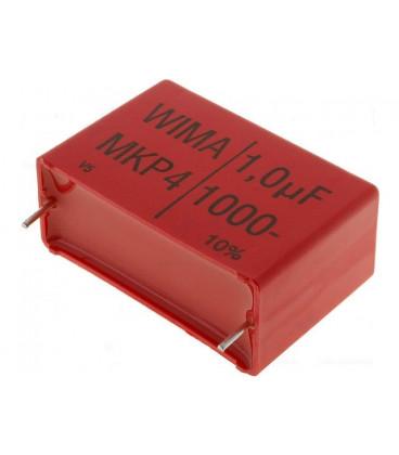Condensador Polipropileno 1uF 1000Vcc  R37,5mm