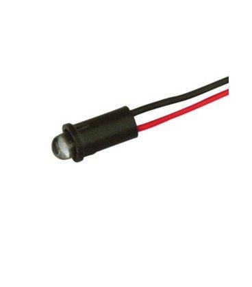 Piloto LED 5mm 12V Intermitente Amarillo