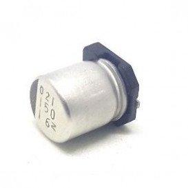 Condensador Electrolitico SMD 150uF 16Vdc medidas 6,3x7,7mm