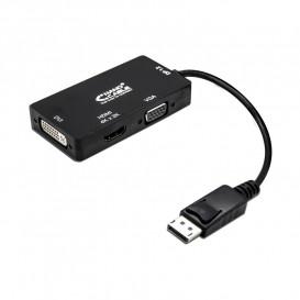 Conversor DisplayPort a VGA DVI HDMI 0,15m