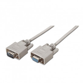 Cable D-Sub9 Macho a D-Sub9 Hembra RS232 3m