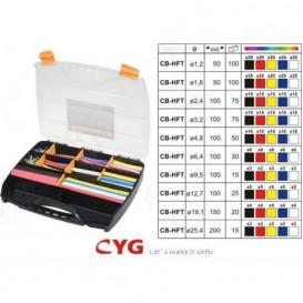 Tubo Termoretractil Caja 505 unidades varios colores y medidas