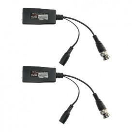 Balun CCTV Pasivo 1c TVI CVI Video y Alimentacion