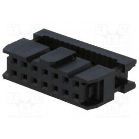 Conector Cable Plano Hembra Doble Fila 14Pin 1,27
