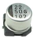 Condensador Electrolitico SMD 2,2uF 50Vdc medidas 4x5,3mm