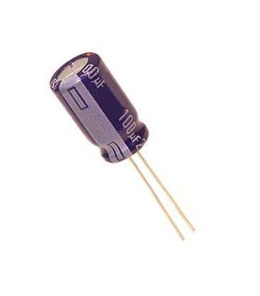 Condensador Electrolitico de Baja Impedancia 22uF 100Vdc 105º