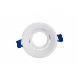 Aro Soporte BOLT Circular Basculante BLANCO para Modulo COB