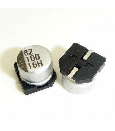 100uF 16V SMD Condensador Electrolitico SMD 6,3x5,8mm