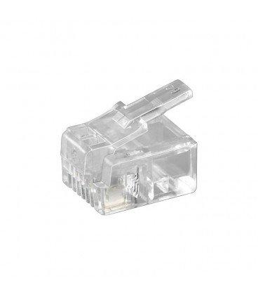 Conector Telefono Modular RJ11 6P4C 4contactos