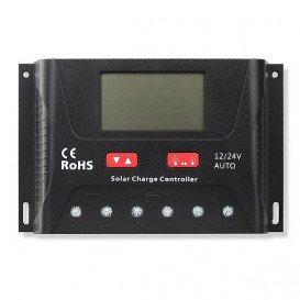 Regulador Carga Solar 12V/24V Auto PWM 30A
