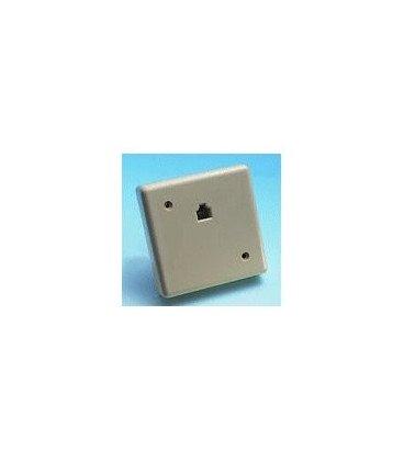 Roseta Telefono Superficie RJ11 6P4C 85x85mm