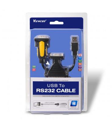 Conversor USB 2. 0 a Sub-D9 RS232 SERIE 1,8m.
