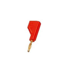 Banana 2mm con toma posterior 6A/60V color Rojo