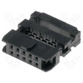 Conector Cable Plano Hembra Doble Fila 10Pin 1,27