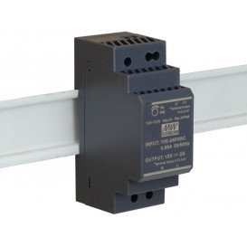 Fuente Alimentacion CARRIL DIN 12V 24W 2A Mean Well