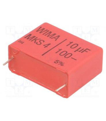 Condensador Poliester 10uF 100V R27,5mm 10mF
