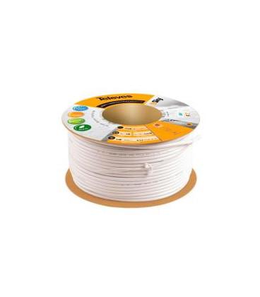 Bobina 100m Cable Coaxial TV CXT5 5mm BLANCO