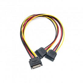 Cable Alimentacion SATA a 2 SATA duplicador