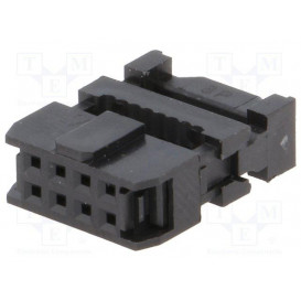 Conector IDC Cable Plano 1,27mm Hembra Doble Fila 8Pin AWP-08