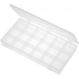 Caja 18 Contenedores de 43x52x37,5mm Transparente