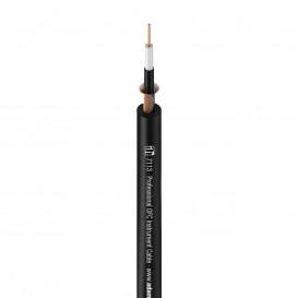 Bobina 100m Cable Audio Desbalanceado 0,22mm NEGRO