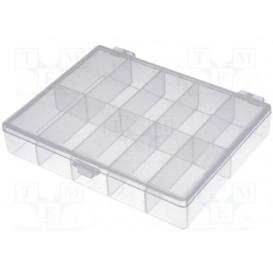 Caja 10 Contenedores de 22x44x18,5mm Transparente