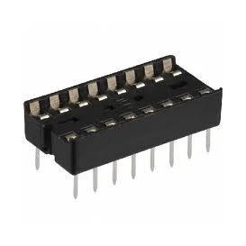 Zocalo Circuito Integrado 16 Pin PLANO raster 2,54mm ICVT-16P