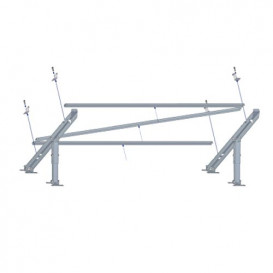 Soporte Panel Solar Horizontal Inclinable suelo/pared