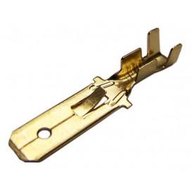 Blister de 20 Terminales Faston Macho 6,3mm con Reten sin Aislar