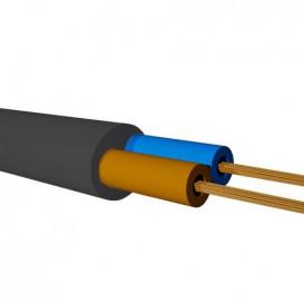 Bobina 100m Manguera Electrica NEGRA 2x0,75 PLANA