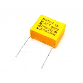 Condensador Polipropileno X2 1,5uF 275Vac X2 Raster 27,5mm