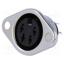 Conector DIN Hembra 4pin para chasis 2 tornillos