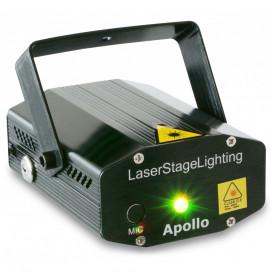 Laser Doble 200mW RG Gobo IRC Apollo