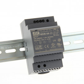 Fuente Alimentacion CARRIL DIN 12Vdc 54W 4,5Amp Mean Well