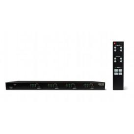 Matriz HDMI 4x4 con 3Salidas Cat5e/6 y 1 salida HDMI