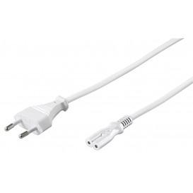 Cable Alimentacion Forma 8 ocho IEC C7 de 5m color BLANCO