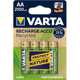 Bateria R06 AA VARTA 2100mAh 1,2V NiMh RECYCLED (Blister de 4