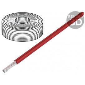 Cable Silicona 2,5mm 500v Rojo