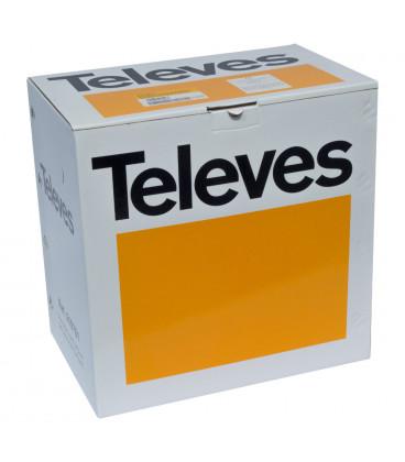 Bobina 305m Cable UTP Cat5e Rigido EXTERIOR CU NEGRO Fca TELEVES