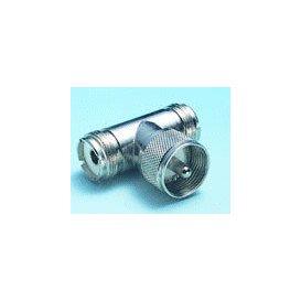 Adaptador UHF Macho a 2 UHF Hembra
