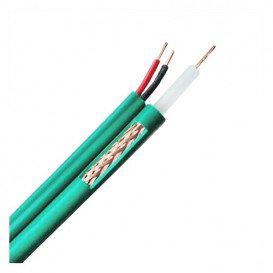Bobina 300m Cable RG59 + 2x0,75mm VERDE