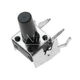 Pulsador Tacto 6x6mm altura total del boton 10mm