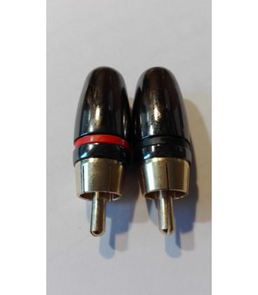 Conector RCA Macho H.Q. ROJO 1030R
