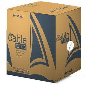 Bobina 305m Cable UTP Cat6 Rigido CCA AWG23 GRIS