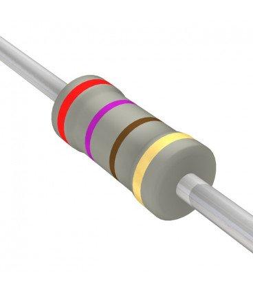 Resistencia Oxido Metal 270R 2W 5% medidas 4,2x11mm