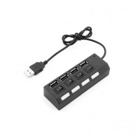 Hub USB 2.0 4Puertos con Interruptores