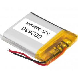 Bateria 3,7V 300mA Li-Polimero con Cto. de control medidas 24x30x5mm